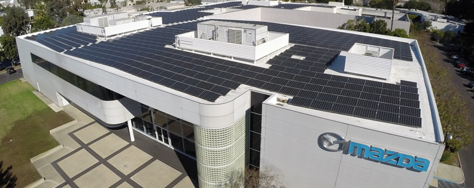 Mitsubishi Electric commercial solar installation.