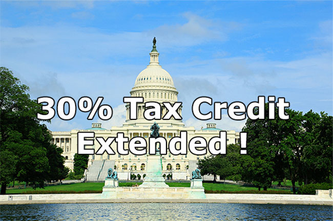 30% Solar Tax Credit Extension